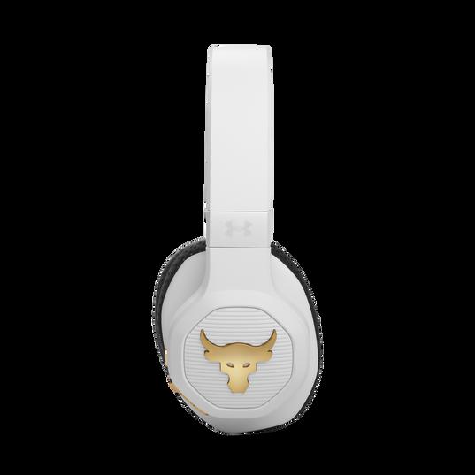UA Project Rock Over-Ear Training Headphones - Engineered by JBL - White - Over-Ear ANC Sport Headphones - Detailshot 4