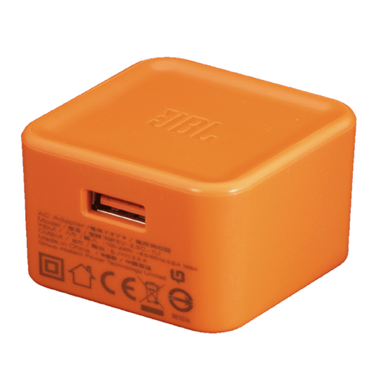 JBL USB AC adapter 5V/2.3A - Orange - Left