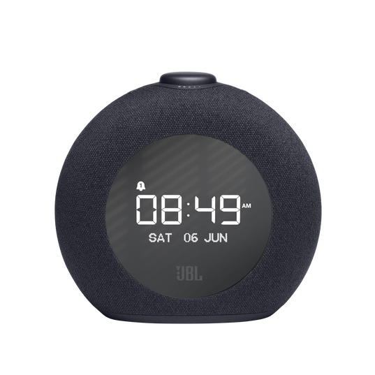 JBL Horizon 2 FM - Black - Bluetooth clock radio speaker with FM - Front