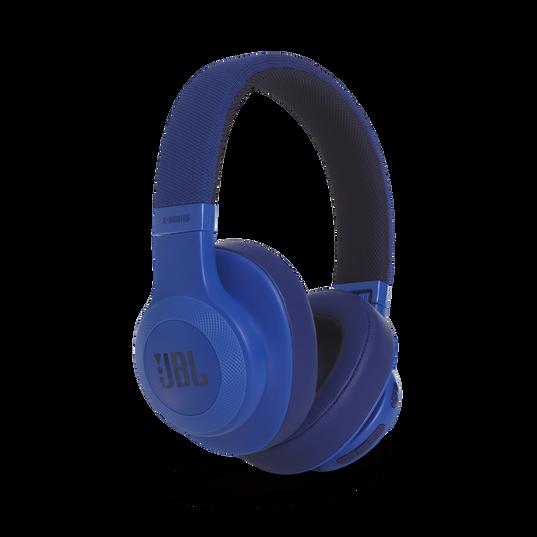 JBL E55BT - Blue - Wireless over-ear headphones - Detailshot 2
