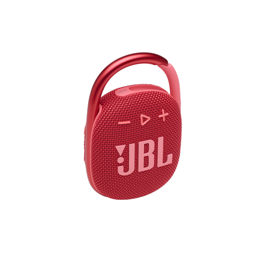 JBL CLIP 4 - Red - Ultra-portable Waterproof Speaker - Hero