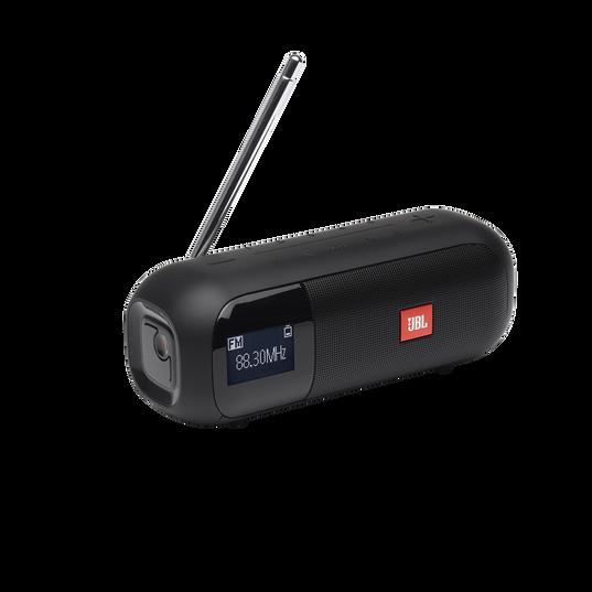 JBL Tuner 2 FM - Black - Portable FM radio with Bluetooth - Hero