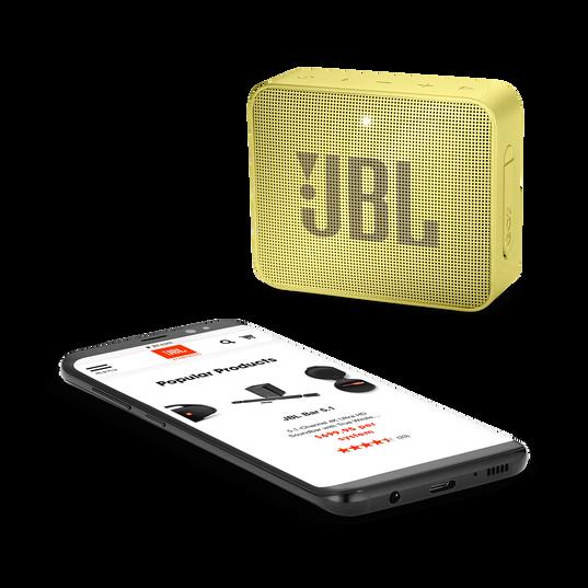 JBL GO 2 - Lemonade Yellow - Portable Bluetooth speaker - Detailshot 3