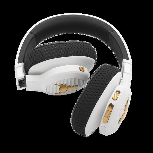 UA Project Rock Over-Ear Training Headphones - Engineered by JBL - White - Over-Ear ANC Sport Headphones - Detailshot 2