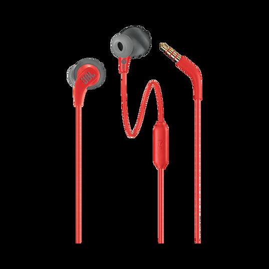 JBL Endurance RUN - Red - Sweatproof Wired Sport In-Ear Headphones - Detailshot 1