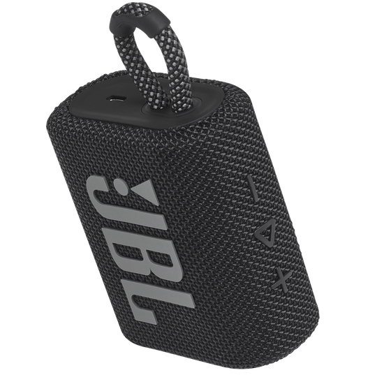 JBL GO 3 - Black - Portable Waterproof Speaker - Detailshot 2