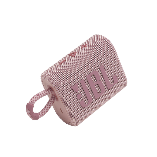 JBL GO 3 - Pink - Portable Waterproof Speaker - Detailshot 1