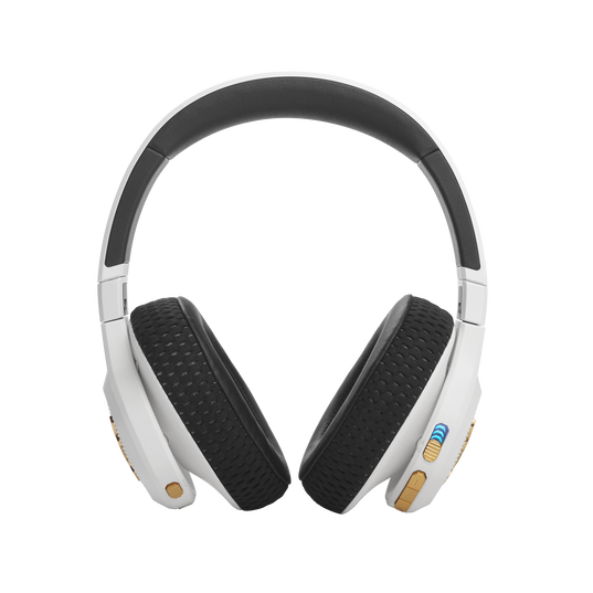 UA Project Rock Over-Ear Training Headphones - Engineered by JBL - White - Over-Ear ANC Sport Headphones - Back