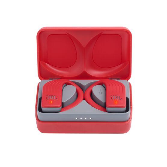JBL Endurance PEAK - Red - Waterproof True Wireless In-Ear Sport Headphones - Hero