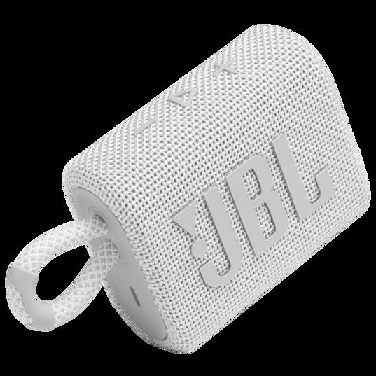 JBL Go 3 - White - Portable Waterproof Speaker - Detailshot 1