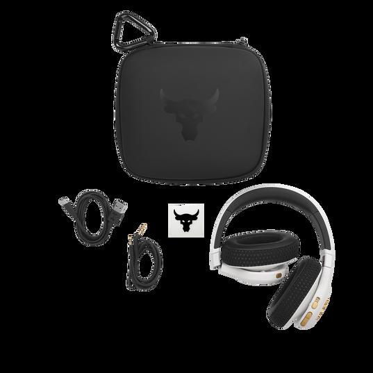UA Project Rock Over-Ear Training Headphones - Engineered by JBL - White - Over-Ear ANC Sport Headphones - Detailshot 5
