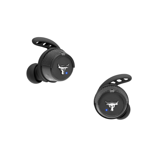 UA Project Rock True Wireless X - Engineered by JBL - Black - In-Ear Sport Headphones - Front