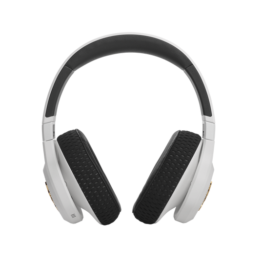 UA Project Rock Over-Ear Training Headphones - Engineered by JBL - White - Over-Ear ANC Sport Headphones - Front