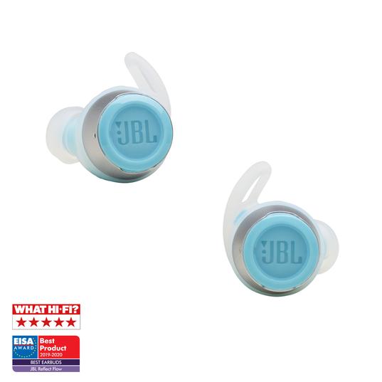 JBL Reflect Flow - Teal - Waterproof true wireless sport earbuds - Detailshot 3