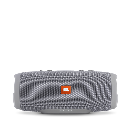 JBL Charge 3 - Grey - Full-featured waterproof portable speaker with high-capacity battery to charge your devices - Front