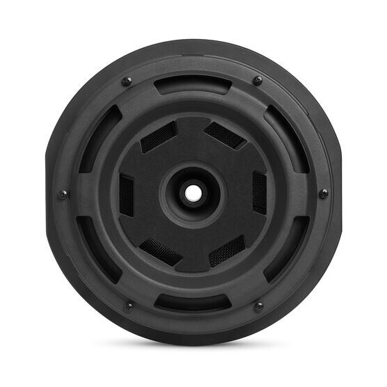 "JBL BassPro Hub - Black - 11"" (279mm) Spare tire subwoofer with built-in 200W RMS amplifier with remote control. - Back"
