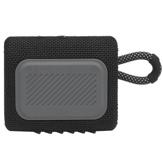 JBL GO 3 - Black - Portable Waterproof Speaker - Back