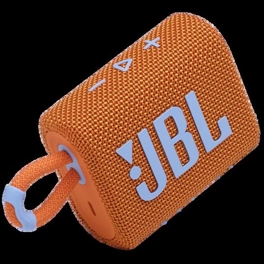 JBL Go 3 - Orange - Portable Waterproof Speaker - Detailshot 1