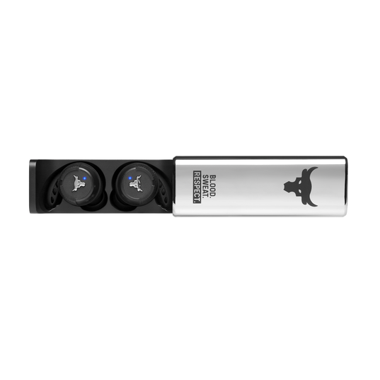 UA Project Rock True Wireless X - Engineered by JBL - Black - Waterproof true wireless sport earbuds - Detailshot 5