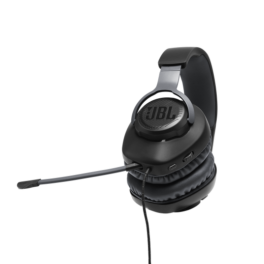 JBL Quantum 100 - Black - Wired over-ear gaming headset with a detachable mic - Detailshot 4