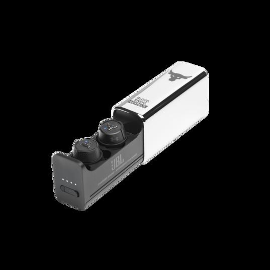 UA Project Rock True Wireless X - Engineered by JBL - Black - In-Ear Sport Headphones - Hero