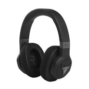 UA Project Rock Over-Ear Training Headphones - Engineered by JBL - Black - Over-Ear ANC Sport Headphones - Hero
