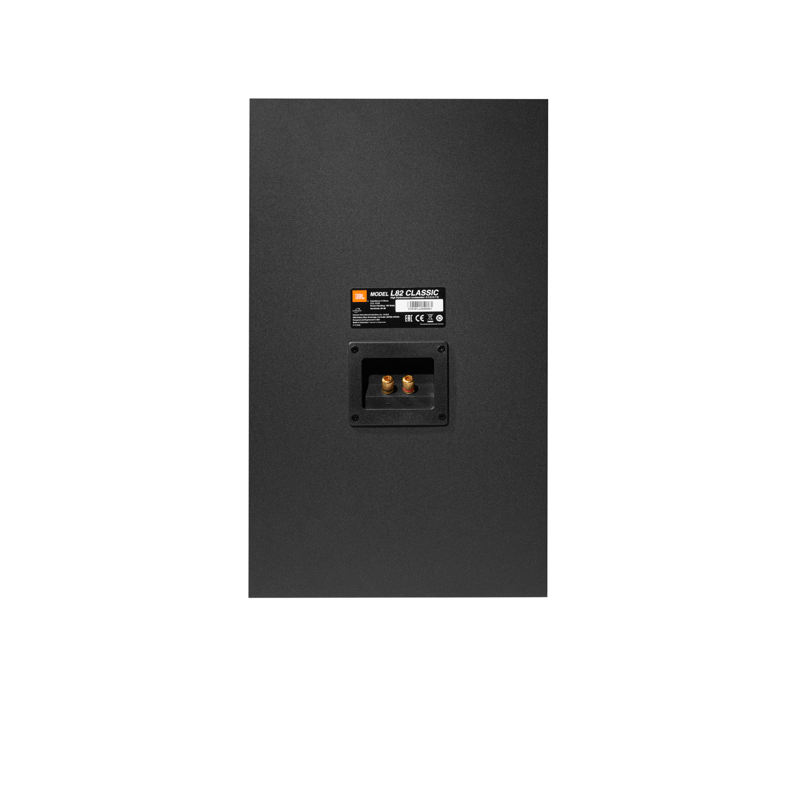 L82 Classic - Black - 2-way 8-inch (200mm) Bookshelf Loudspeaker - Back