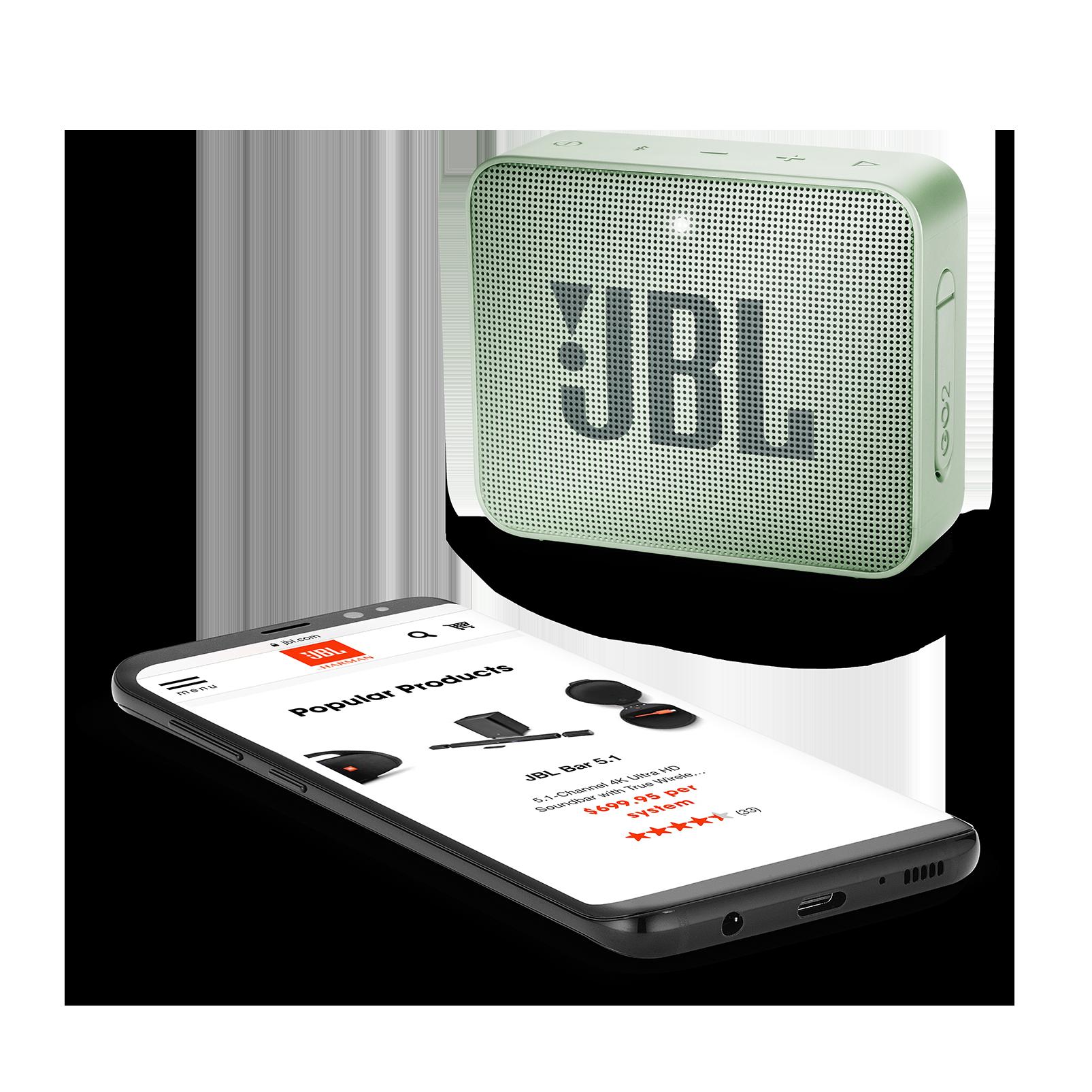 JBL GO 2 - Seafoam Mint - Portable Bluetooth speaker - Detailshot 3