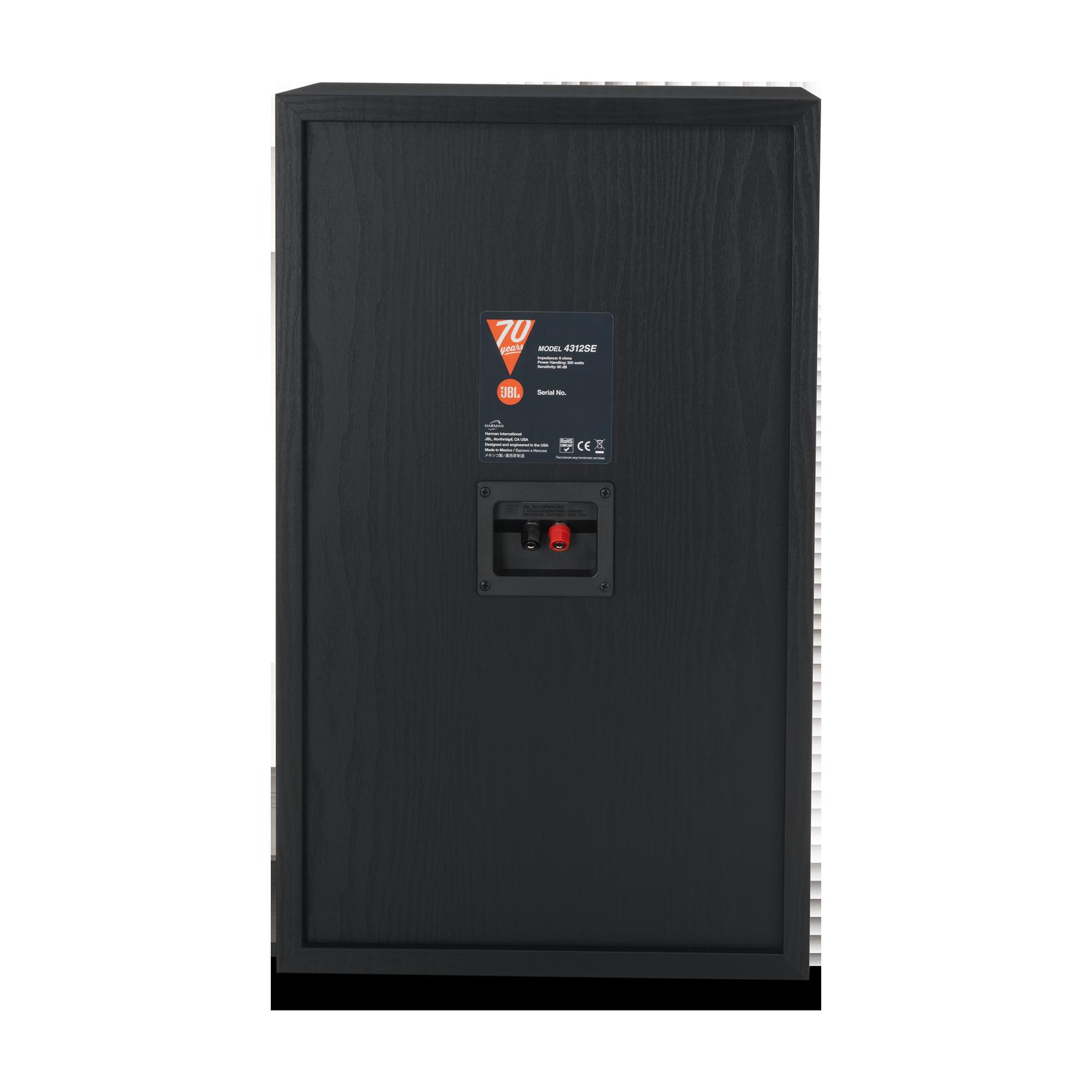 4312SE - Black - JBL 4312SE Studio Monitor Bookshelf Loudspeaker - Back