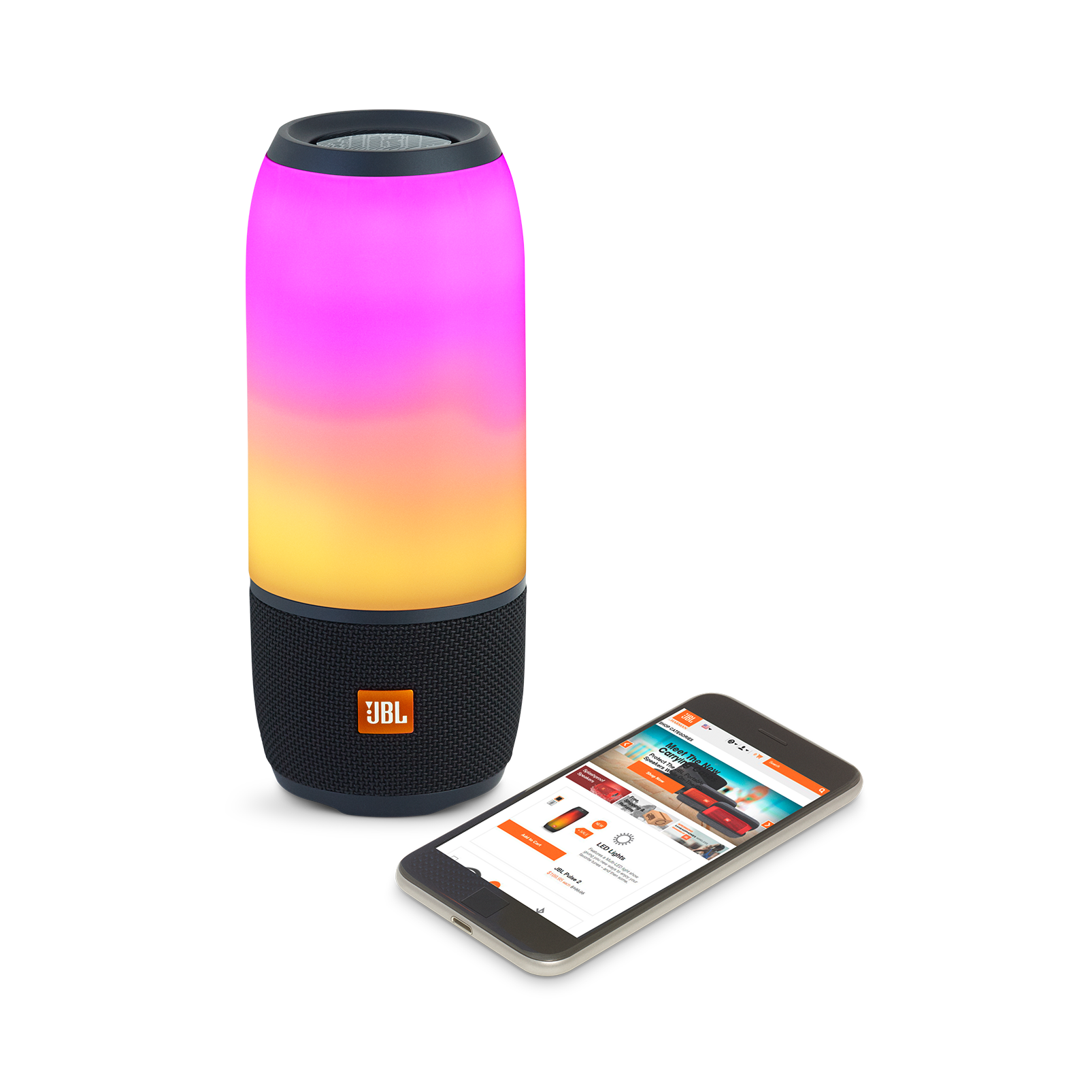 Pulse 3 - Black - Waterproof portable Bluetooth speaker with 360° lightshow and sound. - Detailshot 3