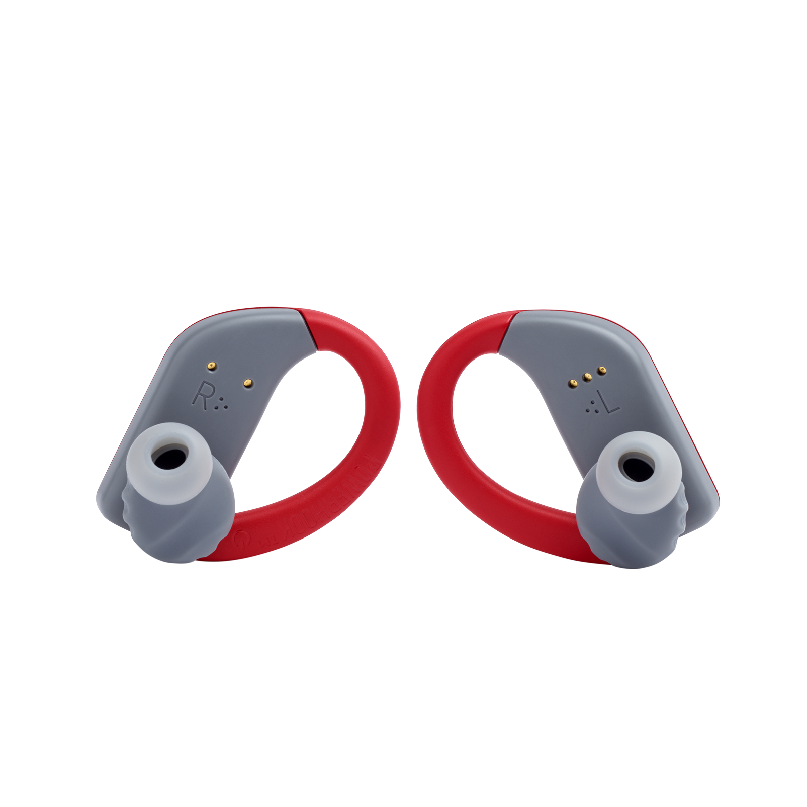 JBL Endurance PEAK - Red - Waterproof True Wireless In-Ear Sport Headphones - Back