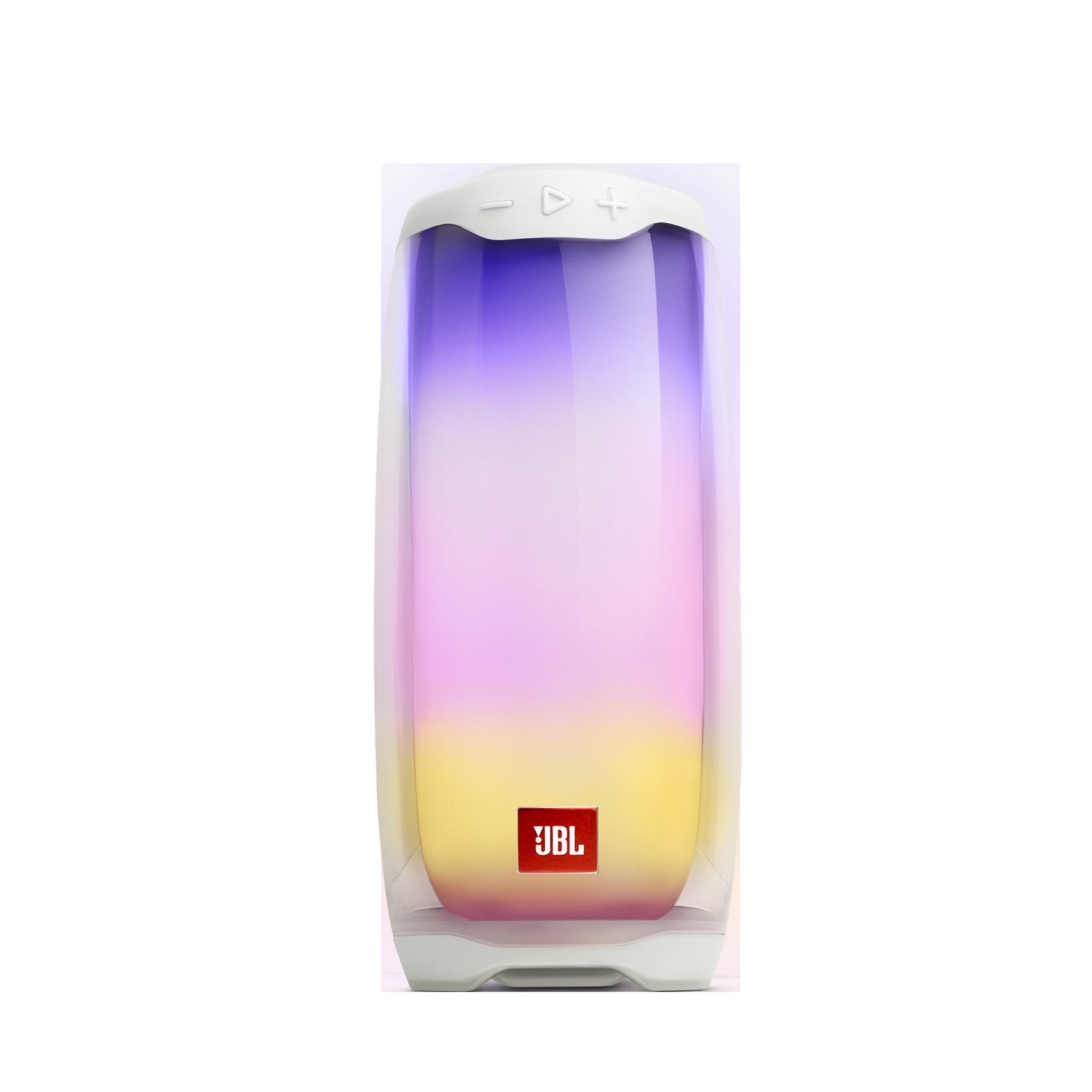 JBL Pulse 4 - White - Portable Bluetooth Speaker - Hero