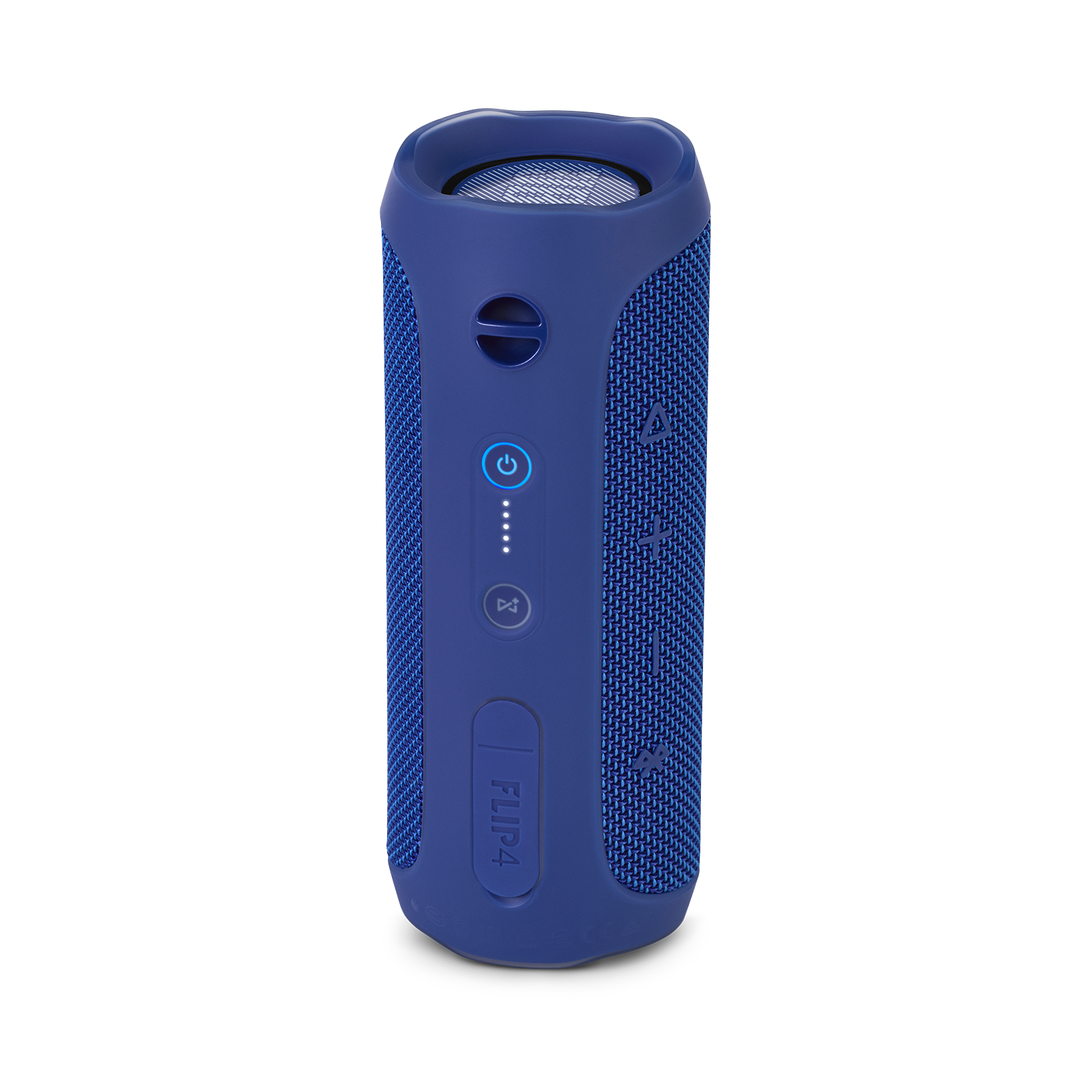 JBL Flip 4 - Blue - A full-featured waterproof portable Bluetooth speaker with surprisingly powerful sound. - Back