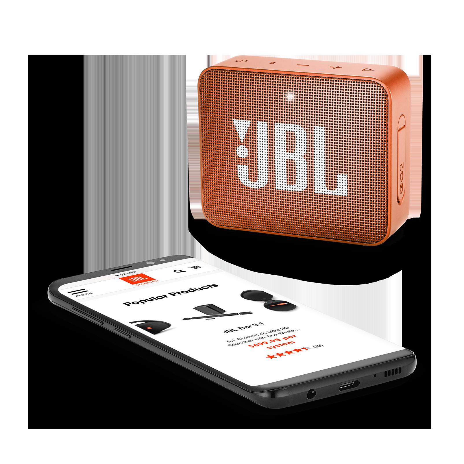 JBL GO 2 - Coral Orange - Portable Bluetooth speaker - Detailshot 3