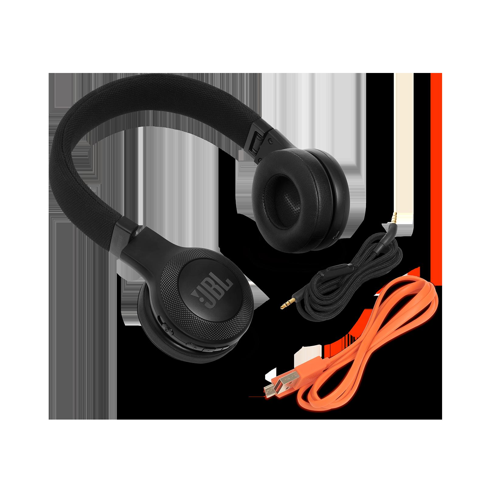 JBL E45BT - Black - Wireless on-ear headphones - Detailshot 4