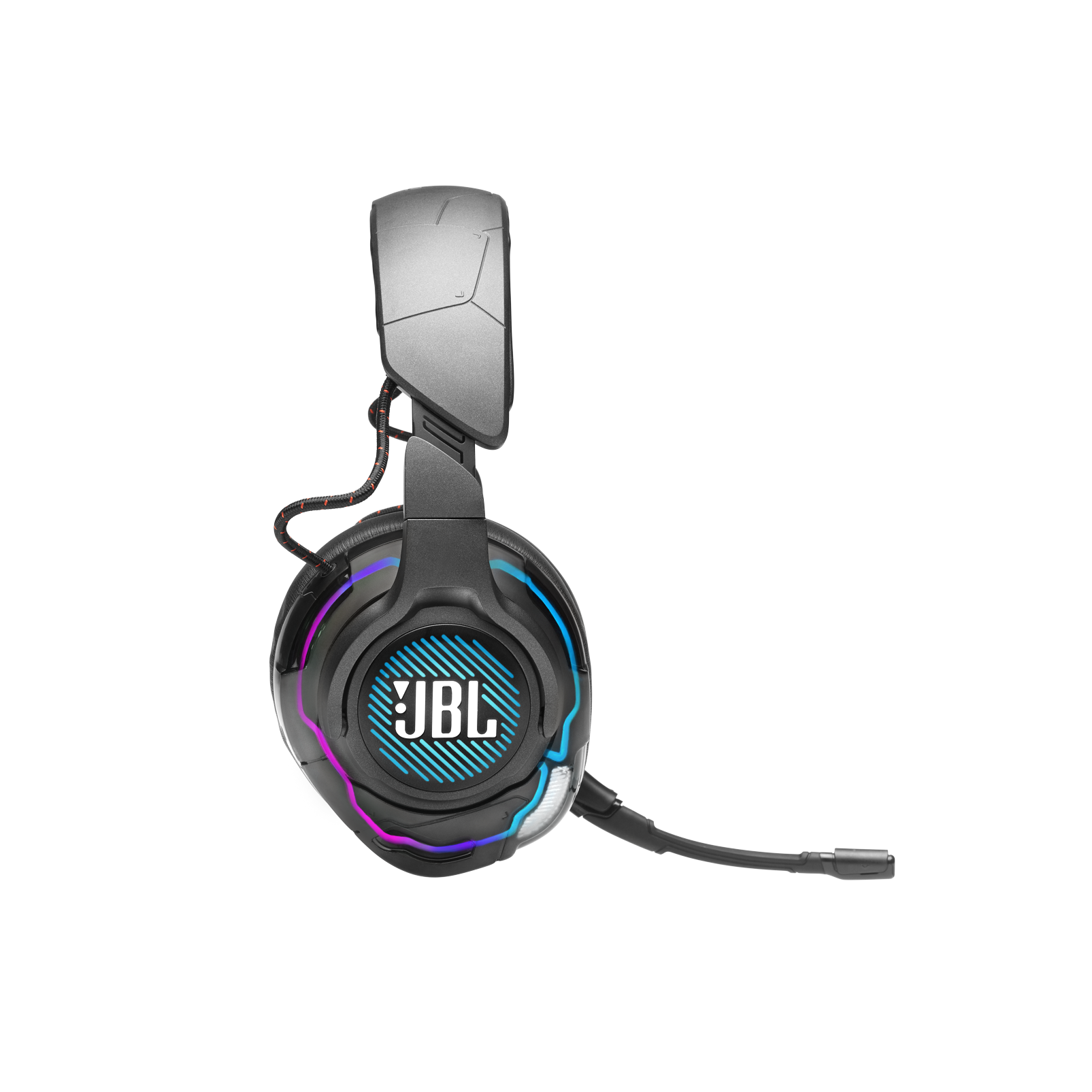 JBL Quantum ONE - Black - USB wired over-ear professional gaming headset with head-tracking enhanced JBL QuantumSPHERE 360 - Detailshot 5
