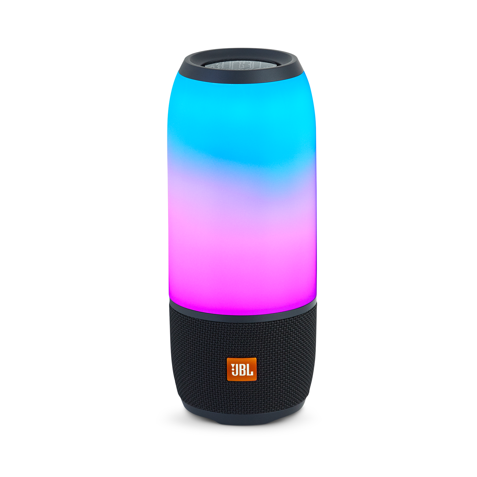 Pulse 3 - Black - Waterproof portable Bluetooth speaker with 360° lightshow and sound. - Hero