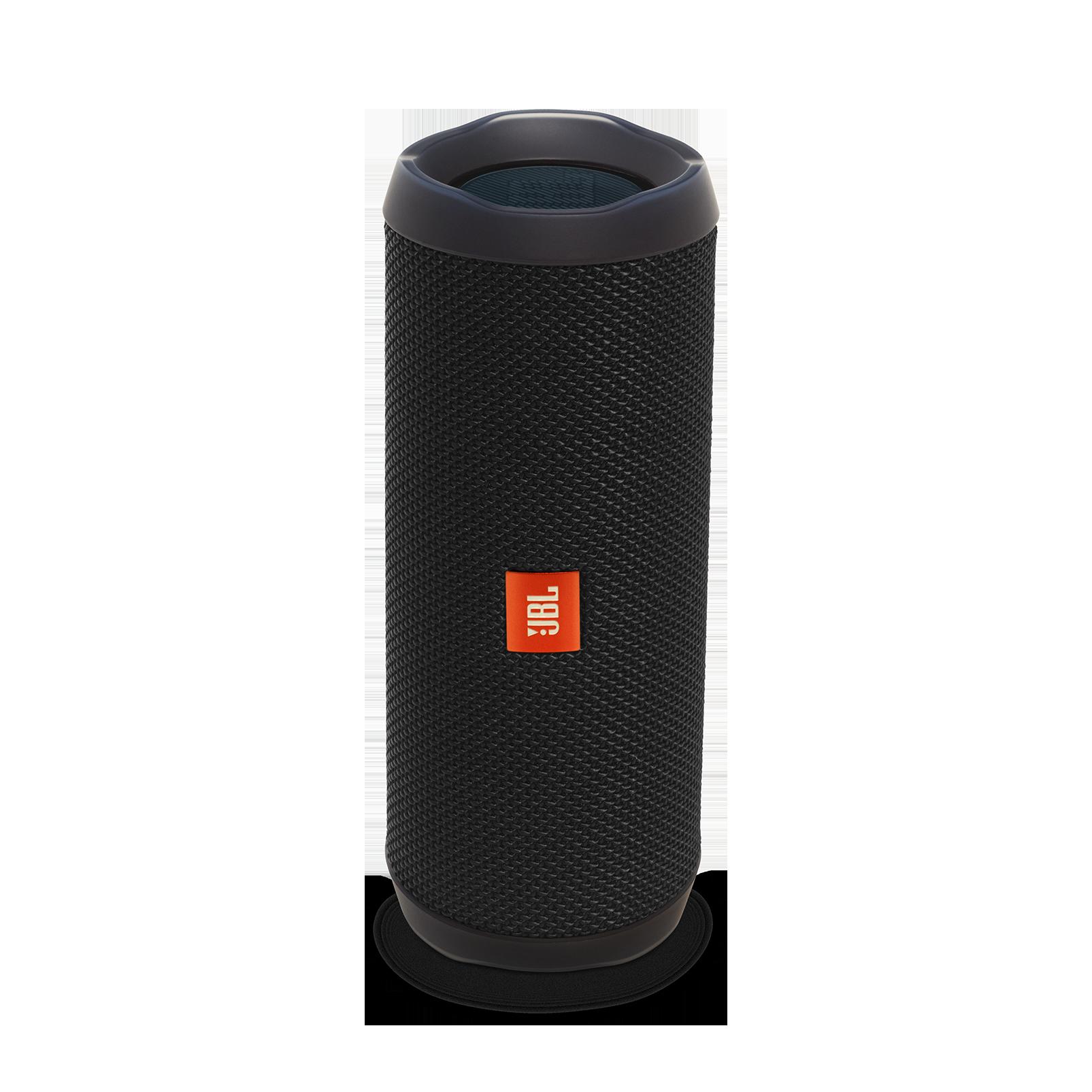 JBL Flip 4 - Black - A full-featured waterproof portable Bluetooth speaker with surprisingly powerful sound. - Hero